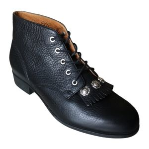 Ariat Ankle Boots Studded Kiltie Lace Up Western